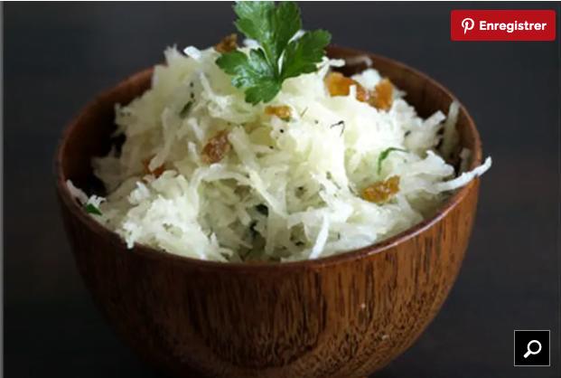 plats cacher betterave blanche en salade