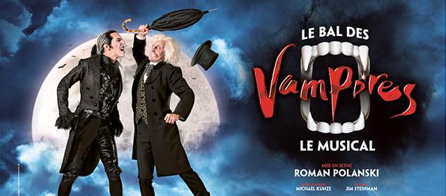 comédie musiclae au théâtre Mogador, le bal des vampires