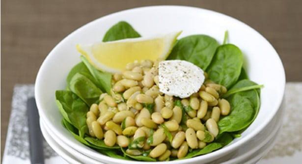 salade flagleolets fomage de chèvre et epices