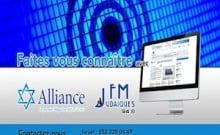 Radio + web. Alliance et Judaiques fm un mois 570 euros