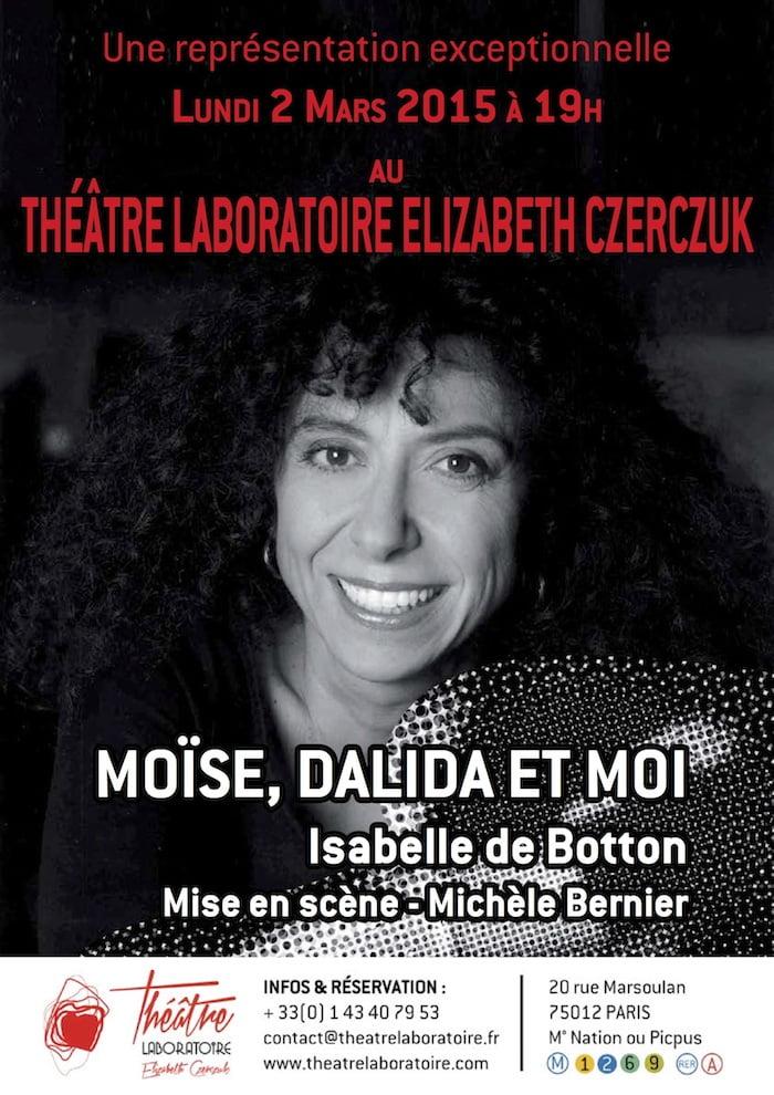 Comme Moîse, Dalida je viens d'Egypte Isabelle de Botton