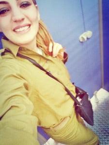 Ilana Mazouz en soldate de tsahal
