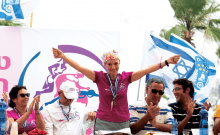 Susie Dvoskin un cancer, une prothèse à la hanche, perte de sa fille et elle participe au triathlon en Israël