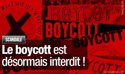 USA Boycott contre israel interdit