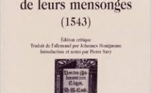 Martin Luther Les Juifs et leurs mensonges choix de Claude Layani