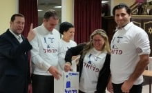 Allya de groupe : Ils quittent la France pour la Samarie T-Shirt avec logo de Pedouel
