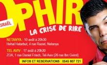 prix réduit crise de rire d'Ophir à Tel Aviv le 17 aout 15