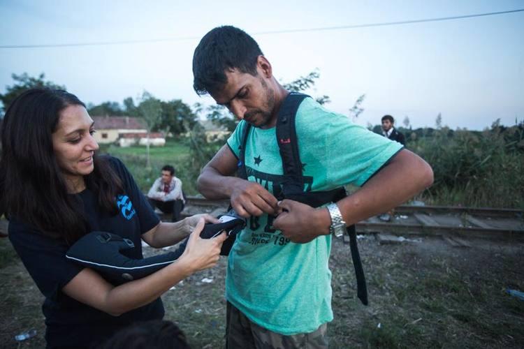 Une association israélienne IsraAid, participe au sauvetage de migrants au large des côtes grecques