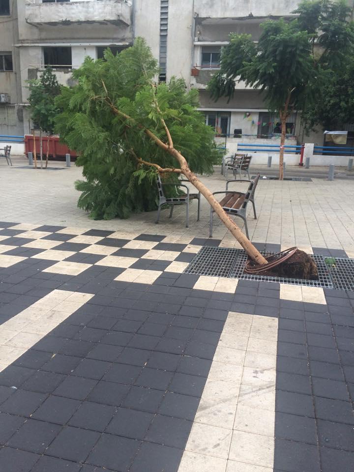 Tempête à Tel-Aviv aujourd'hui dimanche 25 octobre