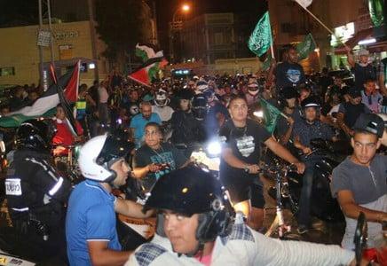 Une manifestation illégale d'arabes israéliens à Jaffa dégénère : 6 personnes arrêtées et 6 policiers blessés