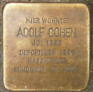 Adolf Cohen était un déporté juif par les nazis