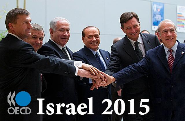 Hausse de la croissance d'israel selon OCDE 2015