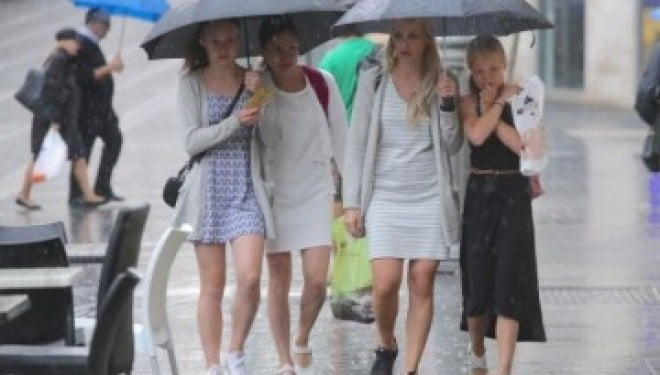 Hiver en Israël la pluie le vent
