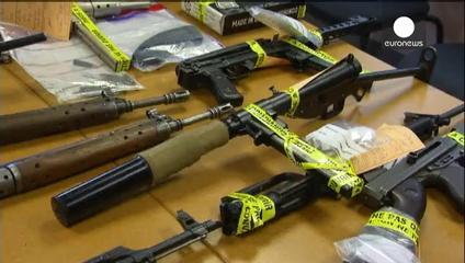 Résultat des perquisitions: des dizaines d'armes ont été découvertes