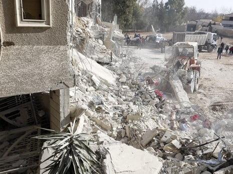 La maison de Samir Kuntar après l'explosion. Le Hezbollah va t'il encore tenter de se venger?