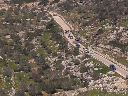 Le lieu de l'attaque à l'ouest de Jenine