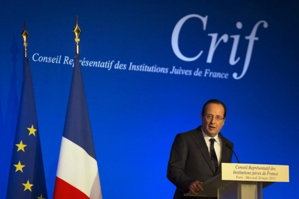 François Hollande au Crif