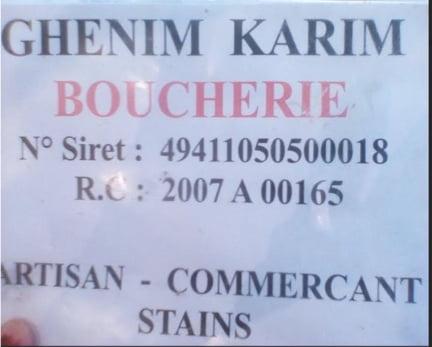 Fausse boucherie cachere tenue par Ghenim Karim