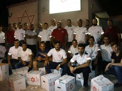 Les bénévoles du MDA de la ville de Baka al-Garbiyye