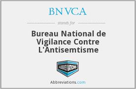 BVNCA Bureau National de Vigilance Contre l'Antisémitisme