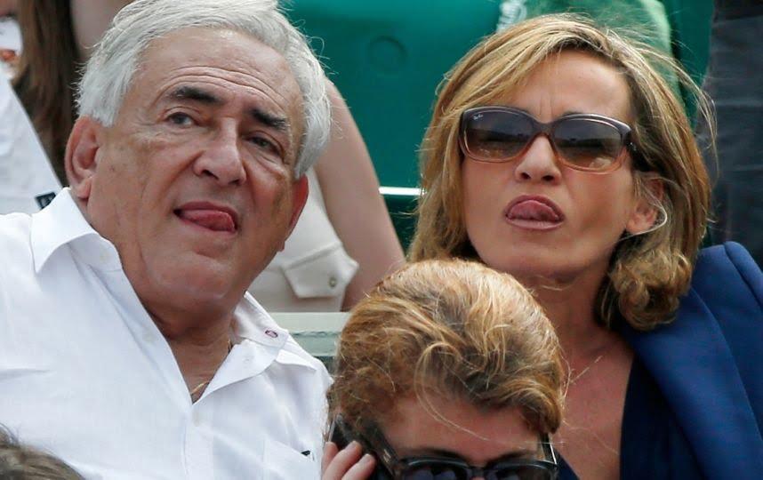 Myriam L'Aouffir et DSK Rolland Garros