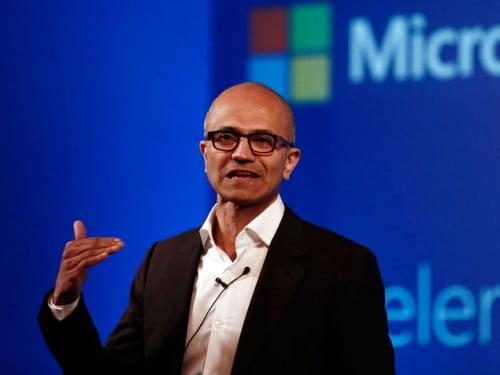 Le PDG de Microsoft
