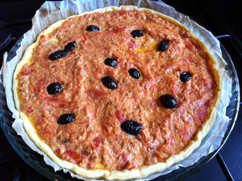 tarte salée aux tomates et thon