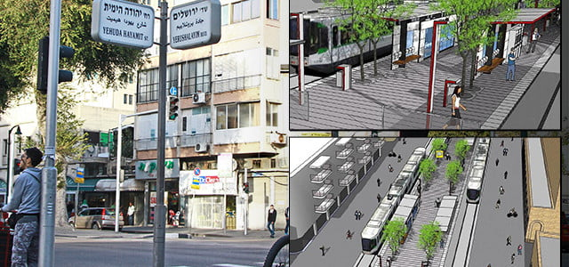 Les travaux du tram arrivent à Jaffa