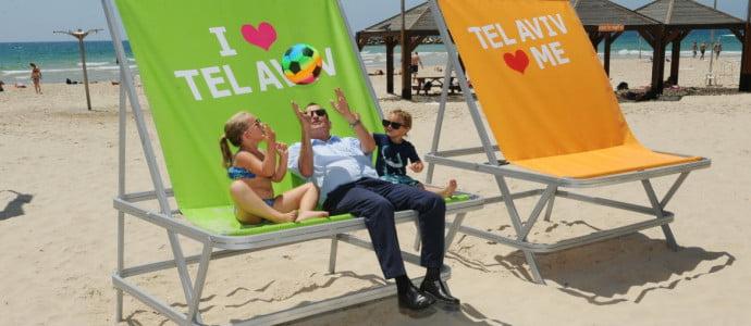 Tel Aviv: Détendez-vous sur une chaise de plage géante