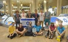 La délégation israélienne aux Olympiades de mathématiques
