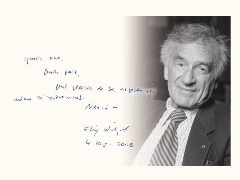 Elie Wiesel message de paix
