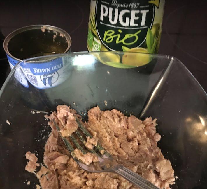 thon naturel avec huile d'olive