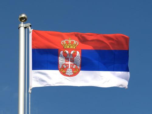 Le drapeau serbe
