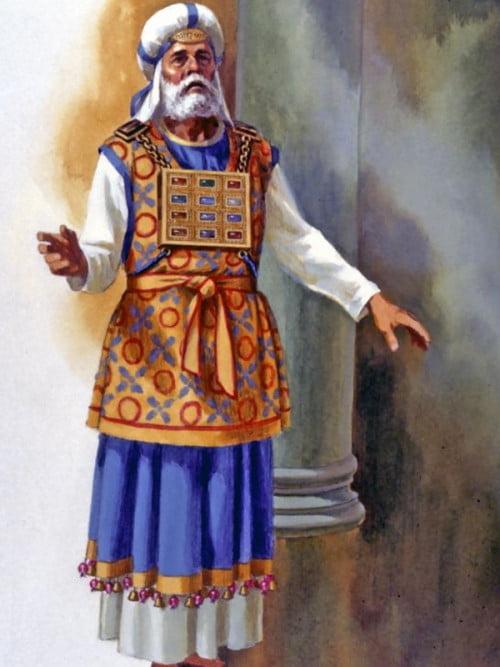 Le Grand Prêtre avec sa tunique aux 72 clochettes d'or