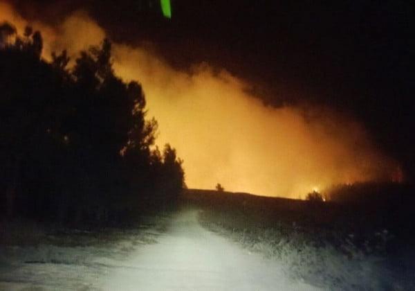 Le feu dans la région de Neve Shalom