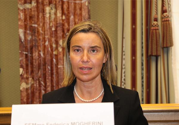 Le Haut Représentant de l'Union européenne pour les affaires étrangères et la politique de sécurité Federica Mogherini