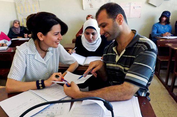 Des étudiants jordaniens