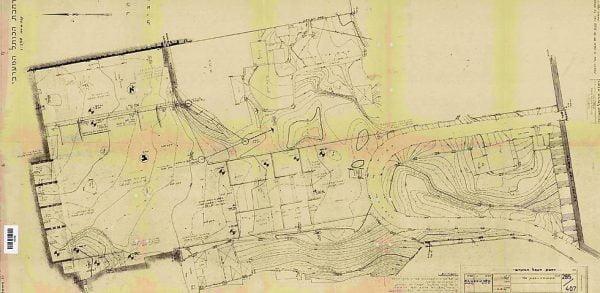 La première carte architecturale de la place du Mur occidental à sa libération