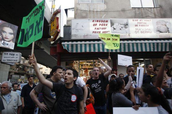 Les résidents du sud de Tel-Aviv protestent Contre les migrants africains