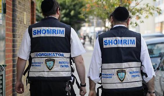Des volontaires de Shomrim