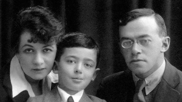 Zeev Jabotinsky avec sa femme et son fils