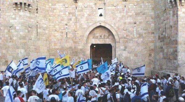 La marche des drapeaux de Yom Yeroushalaim