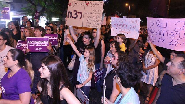 Les israéliennes manifestent contre la violence faite aux femmes
