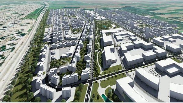 Projet de construction dans une nouvelle ville