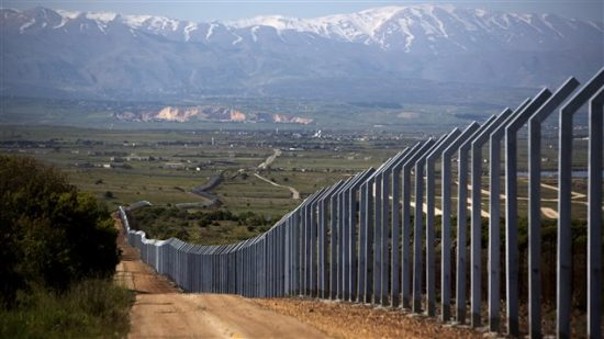 La frontière entre Israël et la Syrie