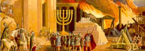 Le Temple de Jérusalem en flammes