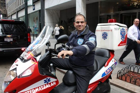 Le président d'Hatzalah Eli Beer