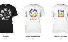 Des T-Shirts à croix gammée pour promouvoir l'amour et la paix