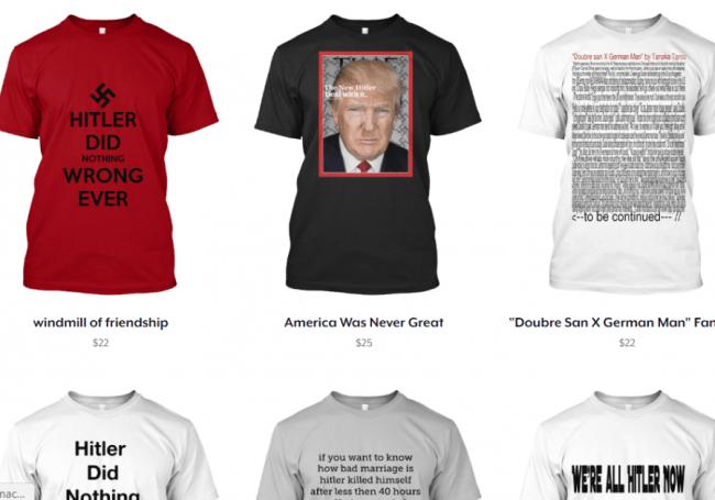 La saga continue: après les T-shirts à croix gammée, des T-shirts Hitler