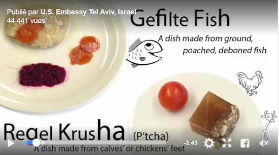 Du gefilte fish et du pied de veau en gelée